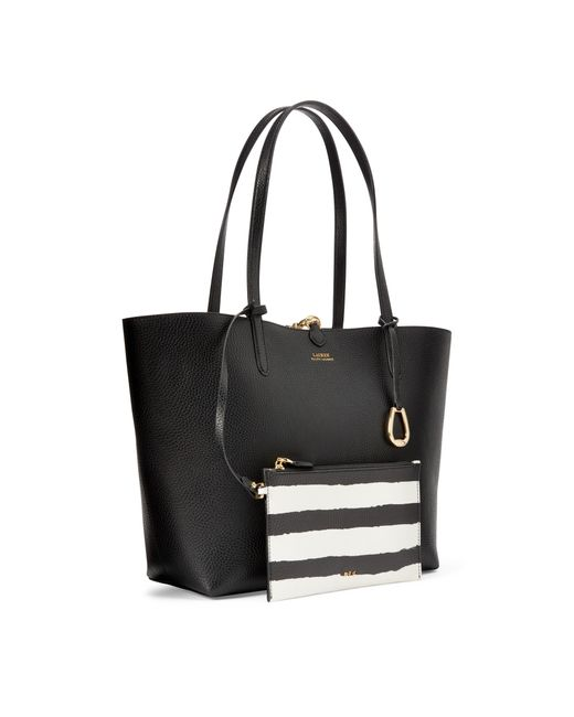 Ralph Lauren Black Faux-leather Reversible Tote
