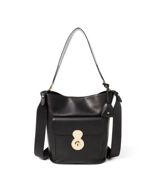 Ralph Lauren | Black The Calfskin Rl Bucket Bag | Lyst
