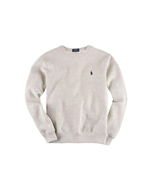 Polo Ralph Lauren | Gray Cotton-blend Fleece Sweatshirt for Men | Lyst