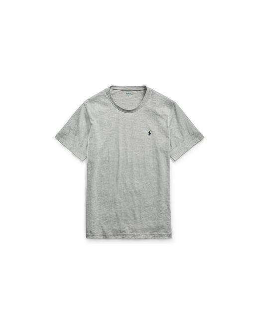Polo Ralph Lauren | Gray Cotton Jersey Crew T-shirt for Men | Lyst