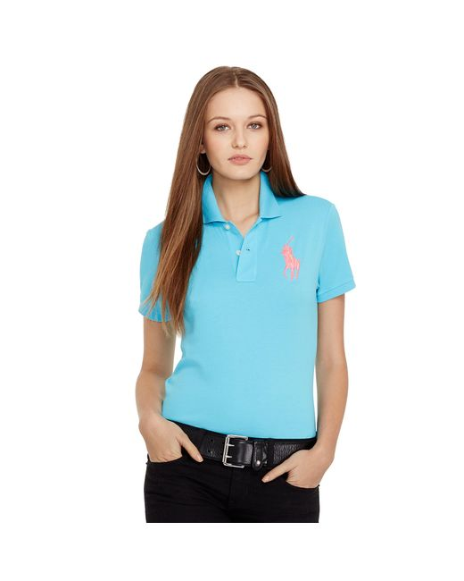 Ralph Lauren | Blue Pink Pony Classic Fit Polo | Lyst