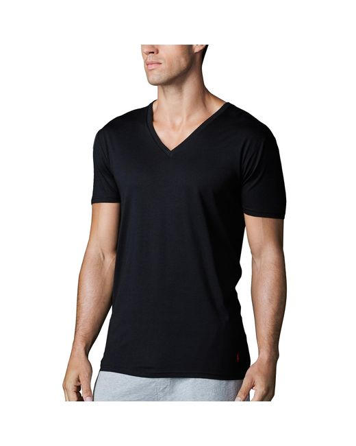 Polo Ralph Lauren | Black Supreme Comfort V-neck 2 Pack for Men | Lyst