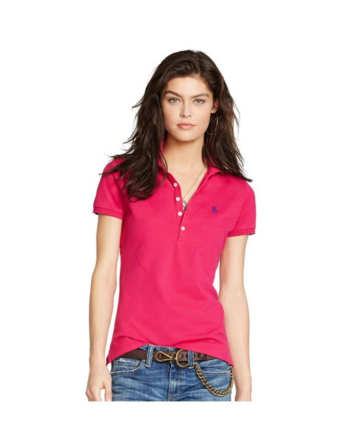 Polo Ralph Lauren | Pink Skinny-fit Stretch-polohemd | Lyst