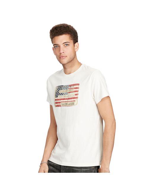 Denim & Supply Ralph Lauren | Natural Flag-patch Cotton Jersey Tee for Men | Lyst