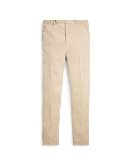 Polo Ralph Lauren - Natural Polo Twill Suit Trouser for Men - Lyst