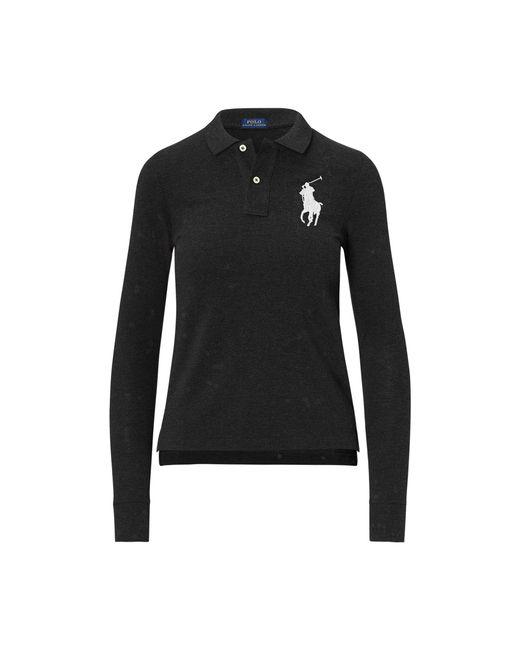 Polo Ralph Lauren - Black Skinny Fit Big Pony Polo - Lyst