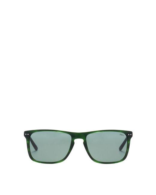 d291c927501 Polo Ralph Lauren - Green Metal Temple Sunglasses for Men - Lyst ...