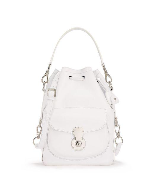 Ralph Lauren | White Nappa Ricky Drawstring Bag | Lyst