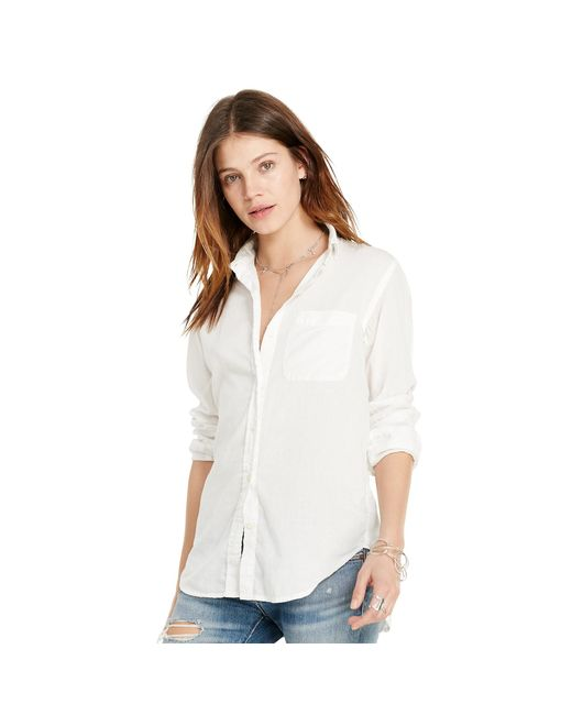 Denim & Supply Ralph Lauren | White Cotton Boyfriend Shirt | Lyst