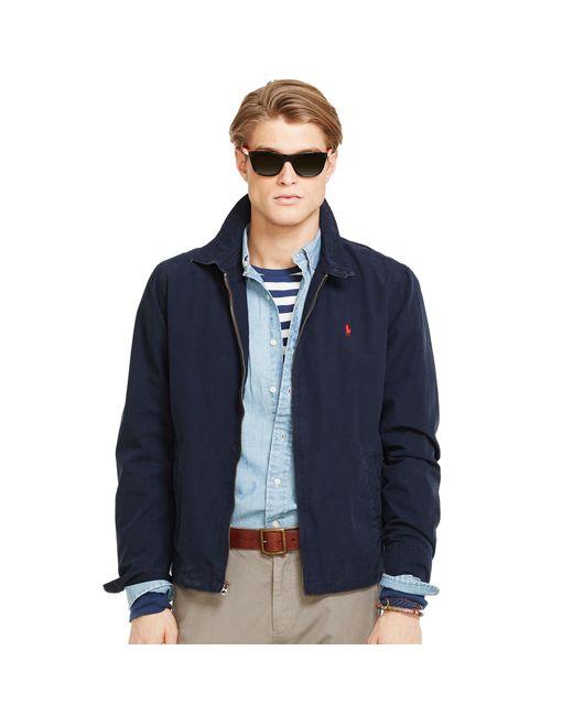 Polo Ralph Lauren | Blue Poplin Windbreaker for Men | Lyst