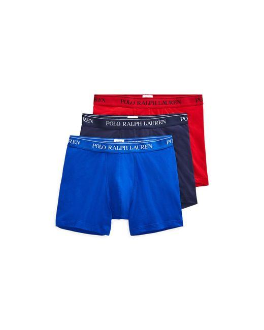 Polo Ralph Lauren - Blue Cotton Boxer Brief 3-pack for Men - Lyst