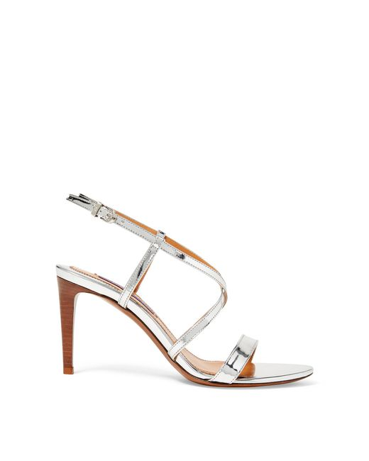 Ralph Lauren - Metallic Arissa Specchio Leather Sandal - Lyst