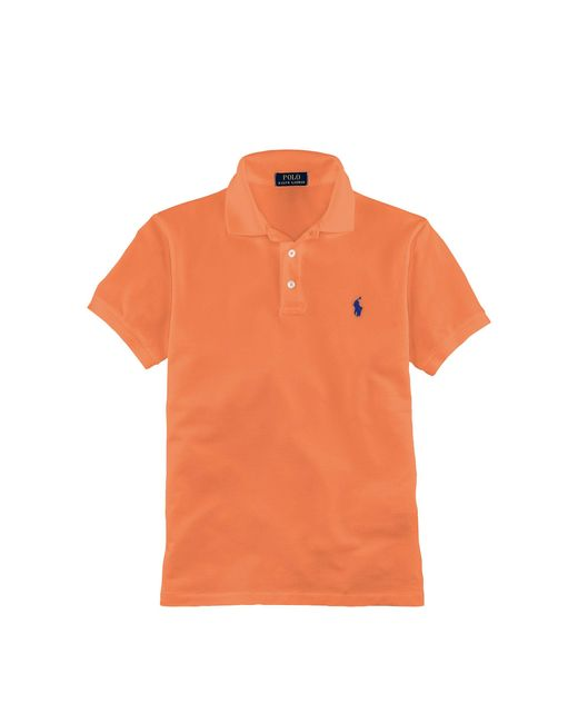 Polo Ralph Lauren | Orange Slim-fit Stretch Mesh Polo for Men | Lyst