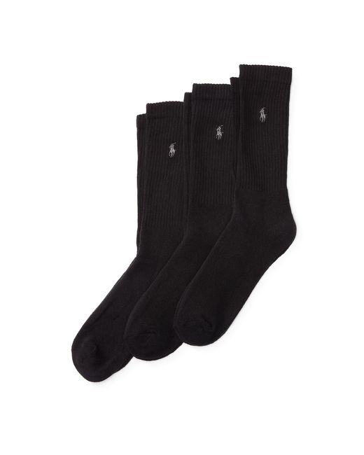 Polo Ralph Lauren | Black Trouser Sock 3-pack for Men | Lyst