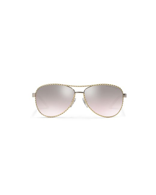 Pink Pony | Metallic Automotive Leather Sunglasses | Lyst