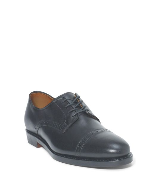 Polo Ralph Lauren | Blue Slaton Calfskin Cap-toe Shoe for Men | Lyst