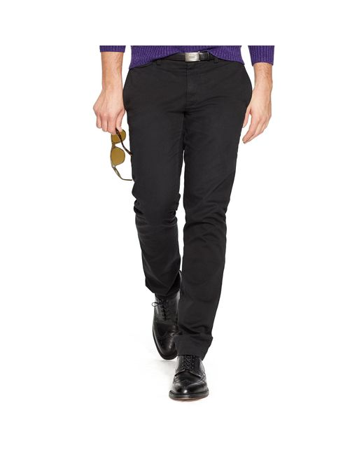 Polo Ralph Lauren | Black Slim-fit Cotton Chino for Men | Lyst