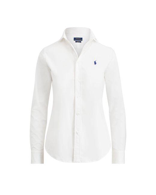 Polo Ralph Lauren - White Slim Fit Poplin Shirt - Lyst