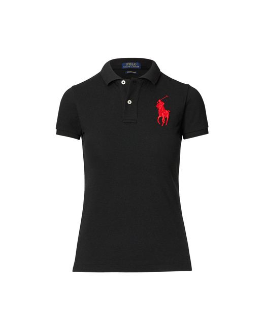 Polo Ralph Lauren Red Skinny Fit Big Pony Polo Shirt