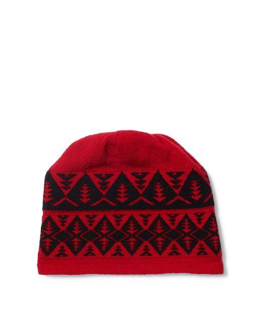 Polo Ralph Lauren | Red Geometric Wool-blend Beanie for Men | Lyst
