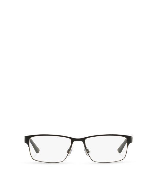 Polo Ralph Lauren | Black Striped Rectangular Eyeglasses for Men | Lyst