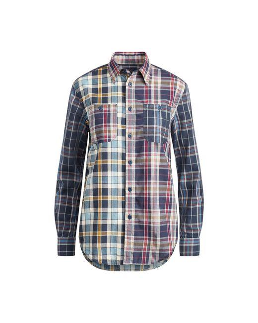 Polo Ralph Lauren   Blue Relaxed Cotton Madras Shirt   Lyst