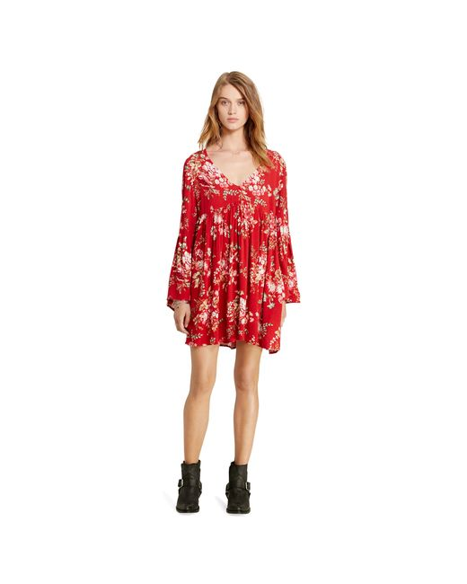 Denim & Supply Ralph Lauren | Red Floral Wrap Dress | Lyst