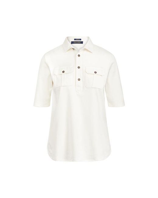 Ralph Lauren Golf - White Tailored Fit Elbow-sleeve Polo - Lyst