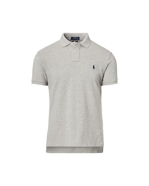 Polo Ralph Lauren   Gray Custom-fit Mesh Polo Shirt for Men   Lyst