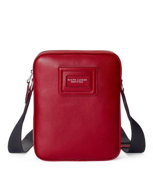 dfeacc2af427 ... promo code for ralph lauren red id badge leather crossbody bag for men  lyst 8b5ce d5412