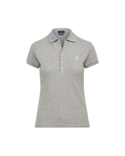 Polo Ralph Lauren - Gray Slim Fit Polo Shirt - Lyst