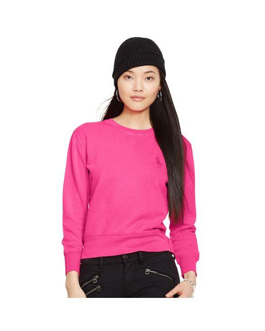 Ralph Lauren | Pink Pony Crewneck Sweatshirt | Lyst