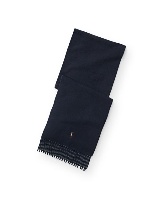 Polo Ralph Lauren | Blue Virgin Wool Scarf | Lyst