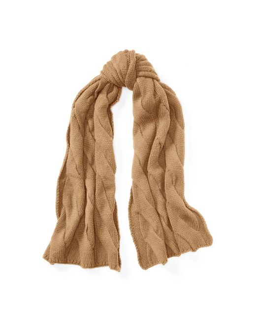 Polo Ralph Lauren | Natural Rope Cable Merino-blend Scarf | Lyst