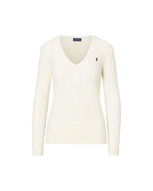 Polo Ralph Lauren   Natural Wool Blend V-neck Sweater   Lyst