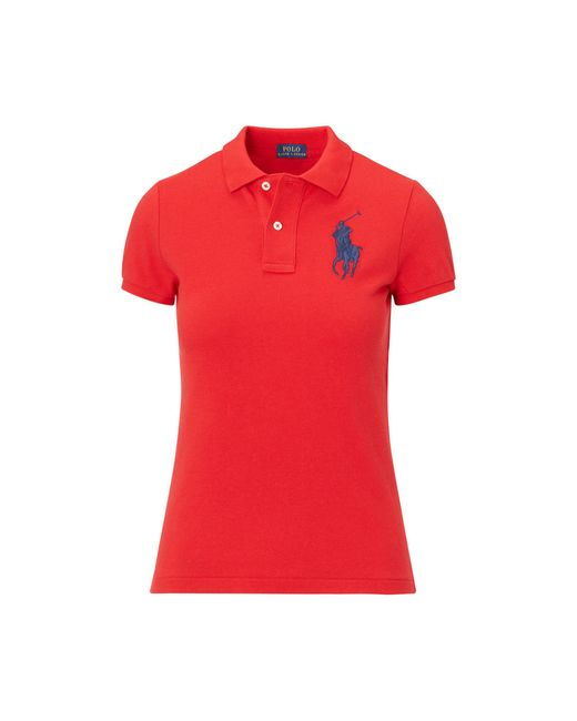 Polo Ralph Lauren | Red Skinny-fit Big Pony Polo Shirt | Lyst