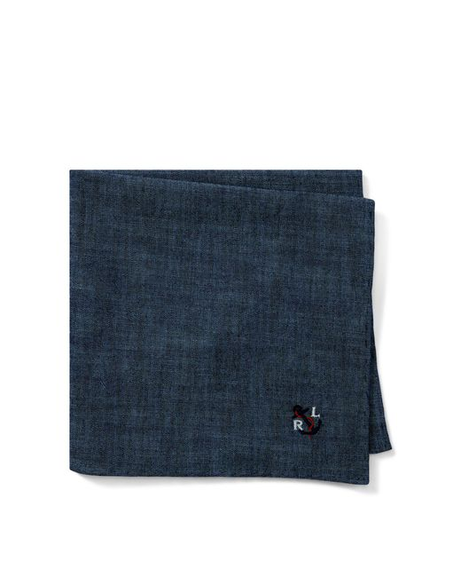 Polo Ralph Lauren - Blue Anchor Chambray Pocket Square for Men - Lyst