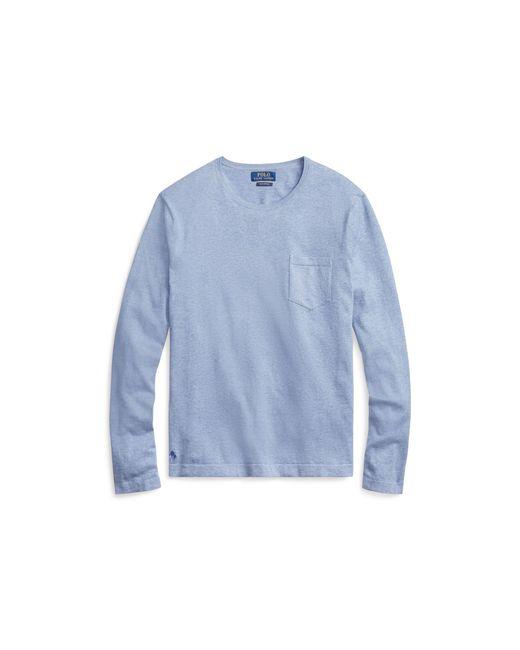 Polo Ralph Lauren - Blue Cotton Crewneck Sweater for Men - Lyst