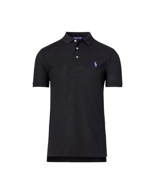 Ralph Lauren Purple Label - Black Custom-fit Piqué Polo Shirt for Men - Lyst