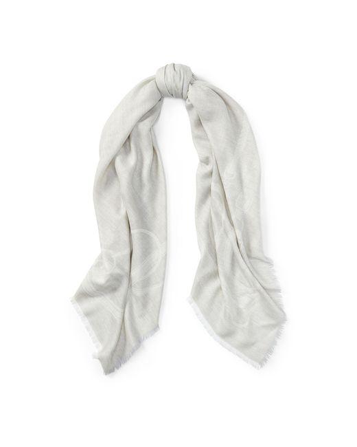 Ralph Lauren | Gray Stirrup Silk-wool Scarf | Lyst