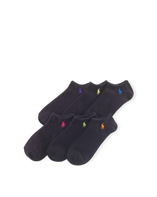 Polo Ralph Lauren - Multicolor Ultralow Sock 6-pack - Lyst