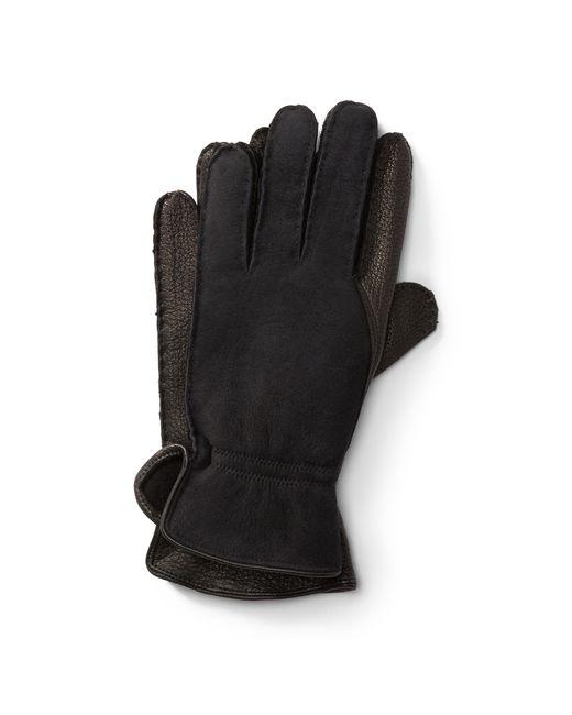 19352008883e Polo Ralph Lauren - Black Leather-shearling Gloves for Men - Lyst ...