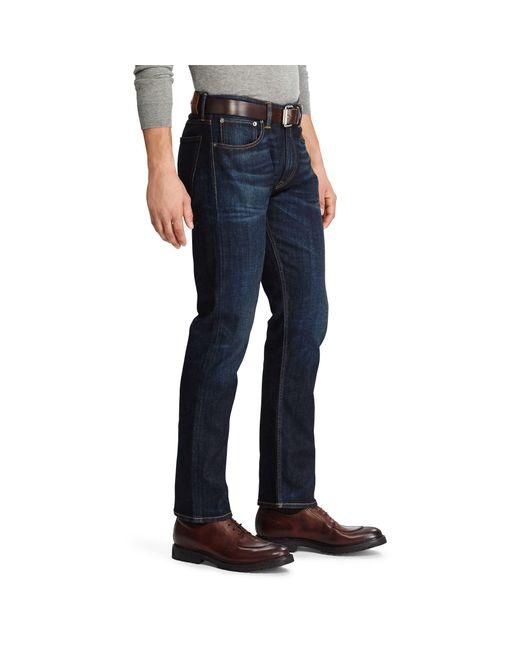 87596140d ... Ralph Lauren Purple Label - Blue Straight Fit Stretch Jean for Men -  Lyst