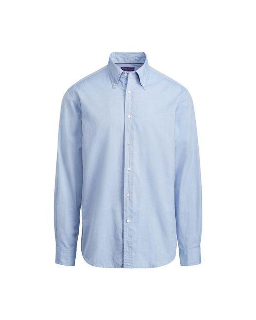 Ralph Lauren Purple Label - Blue Oxford Shirt for Men - Lyst