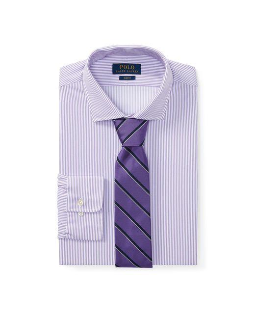 Polo Ralph Lauren - Purple Slim Fit Striped Dobby Shirt for Men - Lyst
