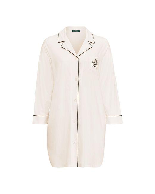 Ralph Lauren - White Cotton Jersey Sleep Shirt - Lyst