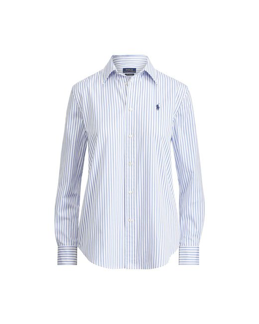 Polo Ralph Lauren - Blue Striped Cotton Boyfriend Shirt - Lyst