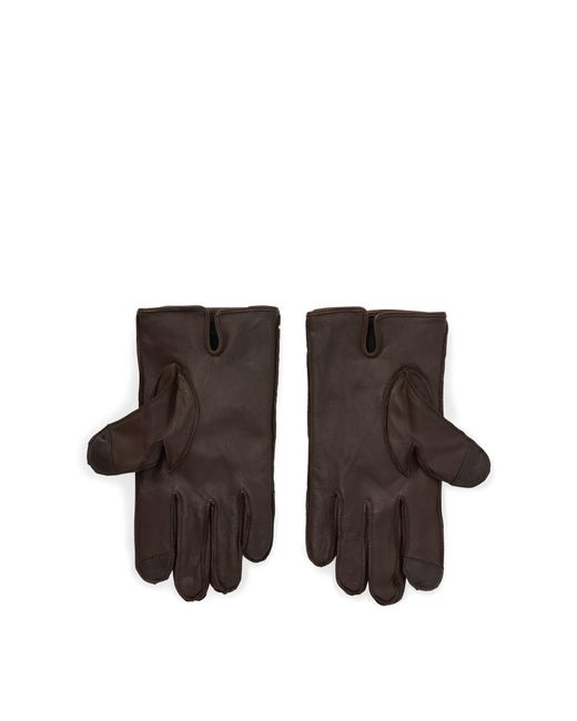 997f42f9e97c4 Lyst - Polo Ralph Lauren Nappa Leather Touch Gloves in Brown for Men ...