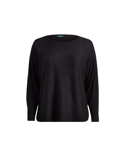 Ralph Lauren | Black Silk-blend Boatneck Sweater | Lyst