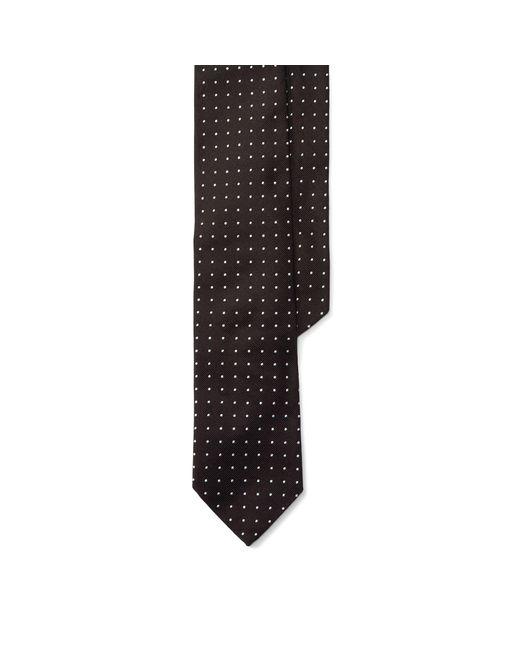 Polo Ralph Lauren - Black Dot Silk Repp Narrow Tie for Men - Lyst